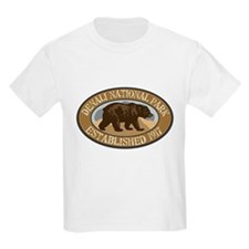 Denali Brown Bear Badge T-Shirt