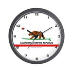 Ca. Surfing Republic Wall Clock