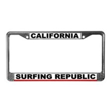 Ca. Surfing Republic License Plate Frame