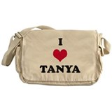 I Love Tanya Messenger Bag