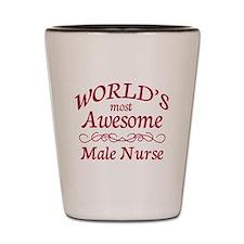 Awesome Male Nurse Shot Glass