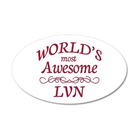 Awesome LVN 20x12 Oval Wall Decal