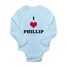 I Love Phillip Long Sleeve Infant Bodysuit