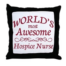 Awesome Hospice Nurse Throw Pillow