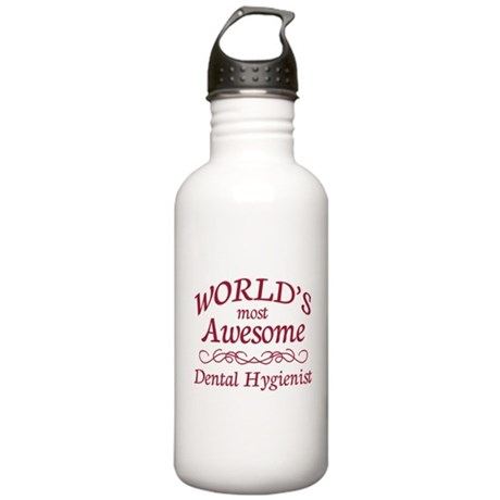 Awesome Dental Hygienist Stainless Water Bottle 1.