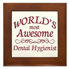 Awesome Dental Hygienist Framed Tile