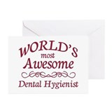 Awesome Dental Hygienist Greeting Cards (Pk of 20)