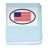 God bless usa Baby Blankets