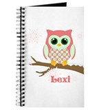 Custom name winter owl girl Journal