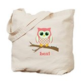 Custom name winter owl girl Tote Bag