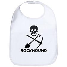 Rockhound Skull Cross Pick Shovel Bib