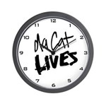 Da Cat LIVES Wall Clock