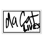 Da Cat LIVES Rectangle Sticker