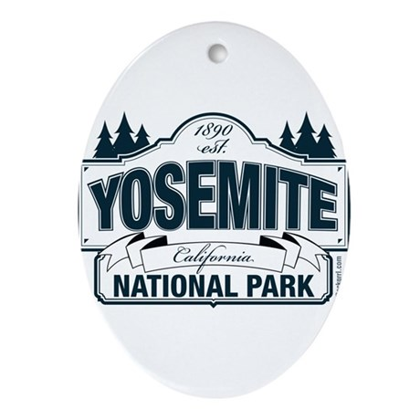 Yosemite Slate Blue Ornament (Oval)