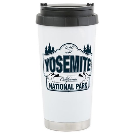 Yosemite Slate Blue Ceramic Travel Mug