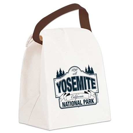 Yosemite Slate Blue Canvas Lunch Bag