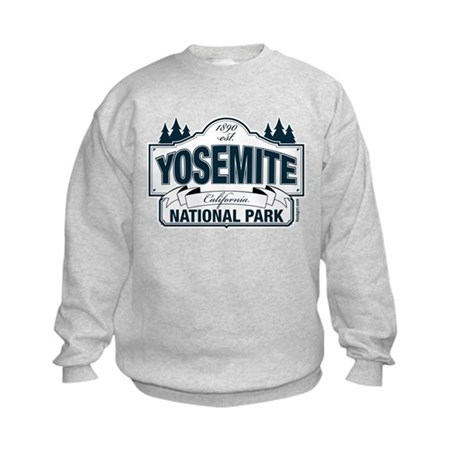 Yosemite Slate Blue Kids Sweatshirt