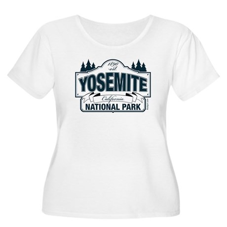 Yosemite Slate Blue Women's Plus Size Scoop Neck T