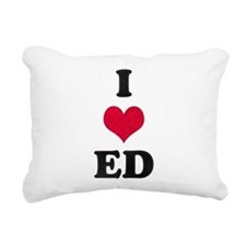 I Love Ed Rectangular Canvas Pillow