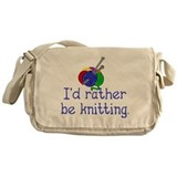 Funny Knitting Messenger Bag