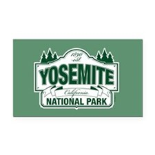 Yosemite Green Sign Rectangle Car Magnet