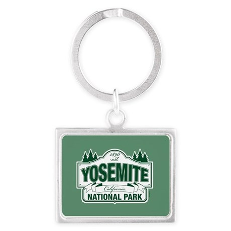 Yosemite Green Sign Landscape Keychain