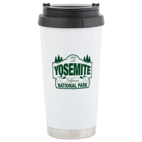 Yosemite Green Sign Ceramic Travel Mug
