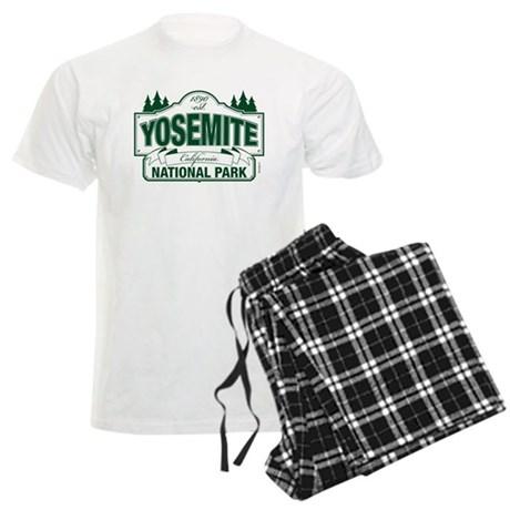 Yosemite Green Sign Men's Light Pajamas