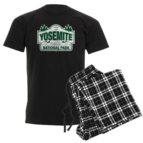 Yosemite Green Sign Men's Dark Pajamas