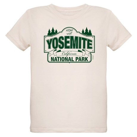 Yosemite Green Sign Organic Kids T-Shirt