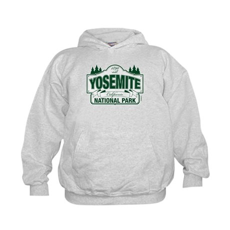 Yosemite Green Sign Kids Hoodie