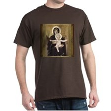 Seated Madonna T-Shirt in Dark Colors
