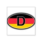 Germany Euro Oval Sticker