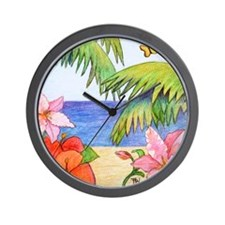 Beach Paradise Wall Clock