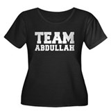 TEAM ABDULLAH Women's Plus Size Scoop Neck Dark T-