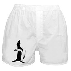 Penguin Poser Art Boxer Shorts