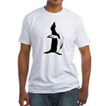 Penguin Poser Art Fitted T-Shirt