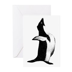 Penguin Poser Art Greeting Cards (Pk of 10)