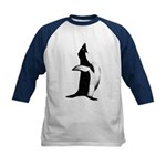 Penguin Poser Art Kids Baseball Jersey