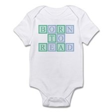 Born to Read Green Infant Bodysuit