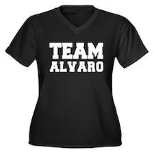 TEAM ALVARO Women's Plus Size V-Neck Dark T-Shirt