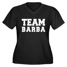 TEAM BARBA Women's Plus Size V-Neck Dark T-Shirt