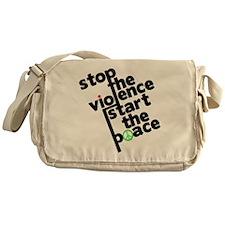 Stop Violence Bring Peace Messenger Bag