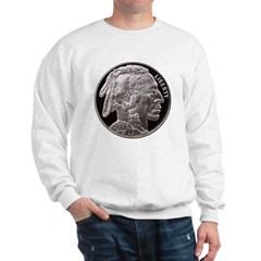 Silver Indian-Buffalo Sweatshirt