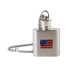 US Design Flag Flask Necklace