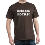 Rebecca Rocks! Black T-Shirt