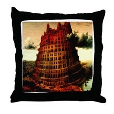 Tower of Babel Bruegel 1563 Throw Pillow