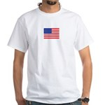 White Being Patriotic T-Shirt