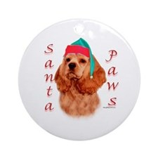 Cocker(red) Paws Ornament (Round)