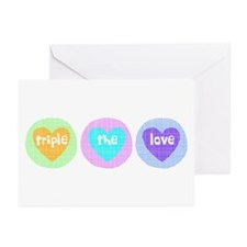 Triple The Love Greeting Cards (Pk of 10)